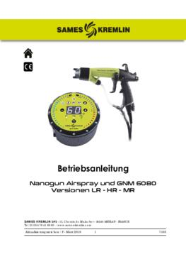 Nanogun Airspray + GNM 6080 (LR - HR) | Bedienungsanleitung