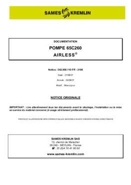 65C260   Manuel d'utilisation