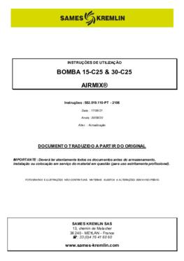 15C25 / 30C25   Manual Instruções