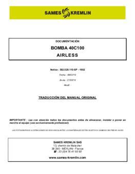 40C100 | Manual de instrucciones
