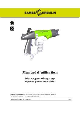 Nanogun Airspray: options pour automobile | Manuel d'emploi