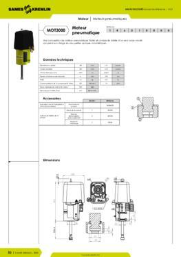 Moteur pneumatique REXSON 3000 - Fiche caractéristiques détaillées