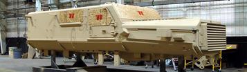 Mise en peinture des véhicules militaires