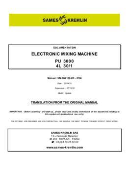 PU3000 4L 30/1   User manual