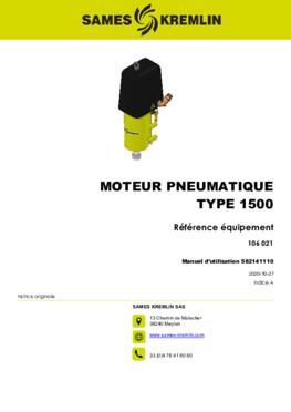 Moteur 1500 REXSON Dispense | Manuel Utilisation