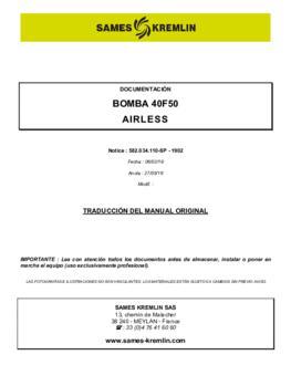 40F50 | Manual de instrucciones