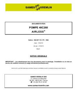 40C260 | Manuel d'utilisation