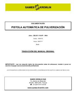 Pistola Automática de pulverizacion | Manual de intrucciones