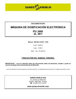 PU3000 2L 30/1 | Manual de instrucciones