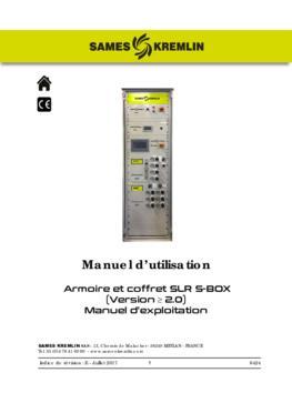 Armoire et coffret SLR S-BOX | Manuel d'exploitation
