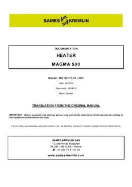 Heater Magma 500| User manual