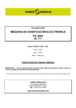 PU3000 2L 1/1 | Manual de instrucciones