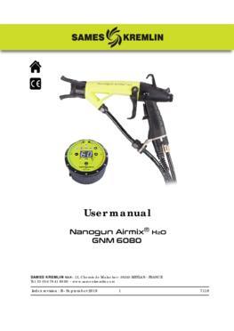 Nanogun Airmix H2O + GNM 6080 | User Manual
