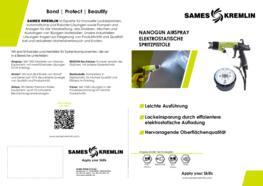 SAMES KREMLIN Broschüre Nanogun Airspray Spritzpistole