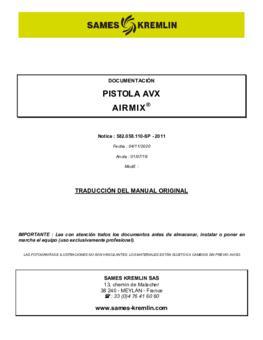 AVX Airmix | Manual de instrucciones