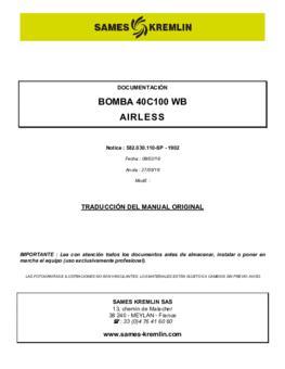40C100 WB | Manual de instrucciones