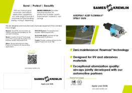 Leaflet A25 F Flowmax Automatic Airspray Spray Gun (English version) SAMES KREMLIN