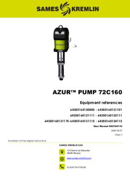 Azur™ 72C160 | User manual
