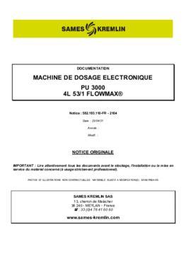 PU3000 4L 53/1 F | Manuel d'utilisation