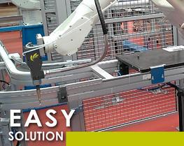 Soluzione robotica agile prodotti densi