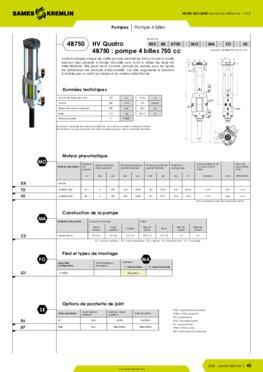 REXSON 4B750 - Fiche caractéristiques détaillées