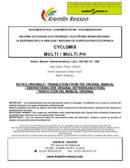 Cyclomix Multi / Multi PH | Manual de instrucciones