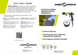 Broschüre NANOGUN Airspray manuelle elektrostatische Spritzpistole