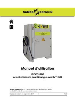 ISOCUBE pour Nanogun Airmix H2O | Manuel d'emploi