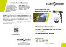 Díptico Pistola Electrostática Nanogun Aerográfica SAMES KREMLIN