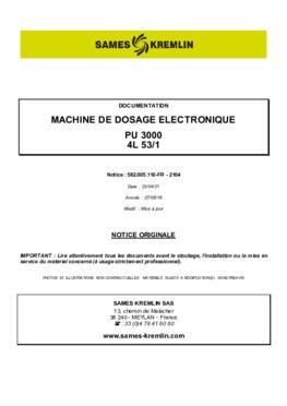 PU3000 4L 53/1   Manuel d'utilisation
