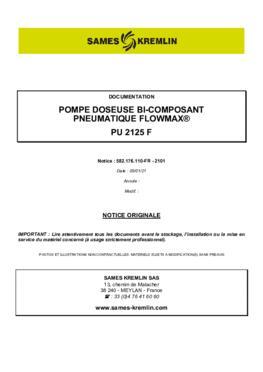 PU 2125F | Manuel d'utilisation