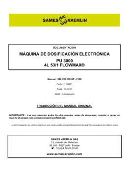 PU3000 4L 53/1 F | Manual de instrucciones