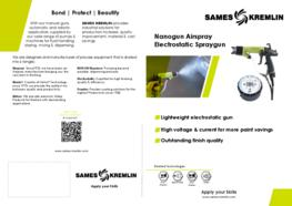 Leaflet Nanogun Airspray Manual Electrostatic Spray Gun (English version) SAMES KREMLIN