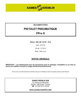 FPro S | Manuel d'utilisation