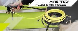 Mangueiras de ar e de produto airspray