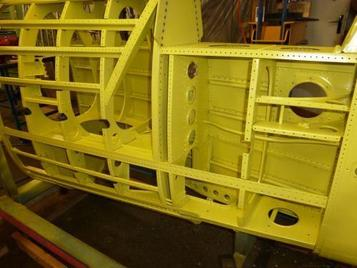 coating airplane structure