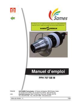 PPH 707 SB M | Manuel d'emploi
