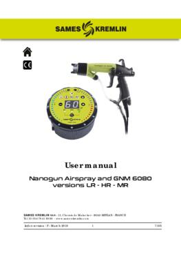Nanogun Airspray + GNM 6080 (LR - HR) | User manual