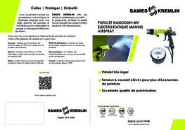 Brochure NANOGUN Pistolet Manuel Airspray Electrostatique