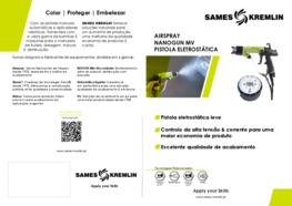 Ficha Produto Nanogun-MV® Pistola de Pintura Manual Eletrostática