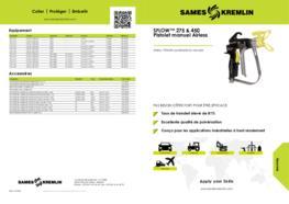 SFLOW™ 275 & 450 Pistolet de peinture manuel Airless