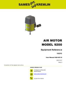 Motor 9200 REXSON Dispense | User manual