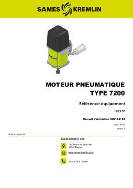 Moteur 7200 REXSON Dispense | Manuel Utilisation