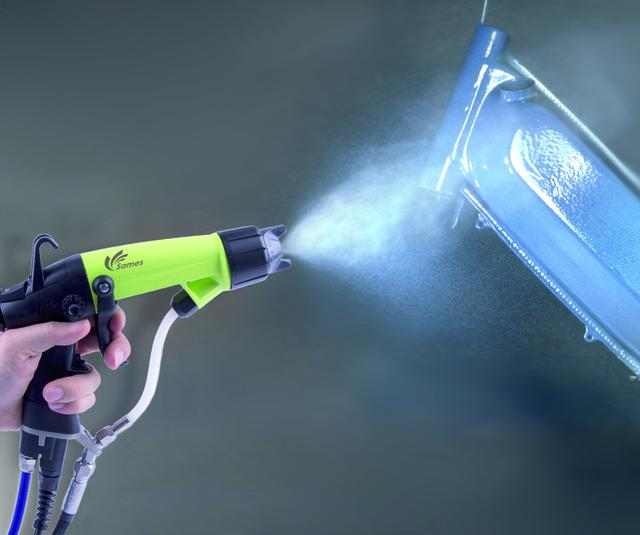 Manual electrostatic spraygun