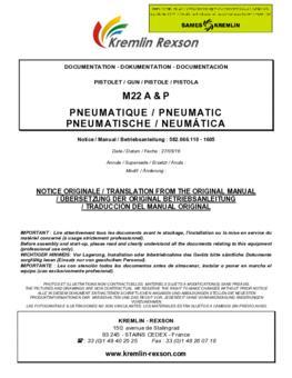 M22 A & P | Manual de instrucciones