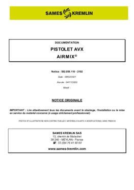 AVX Airmix | Manuel d'utilisation