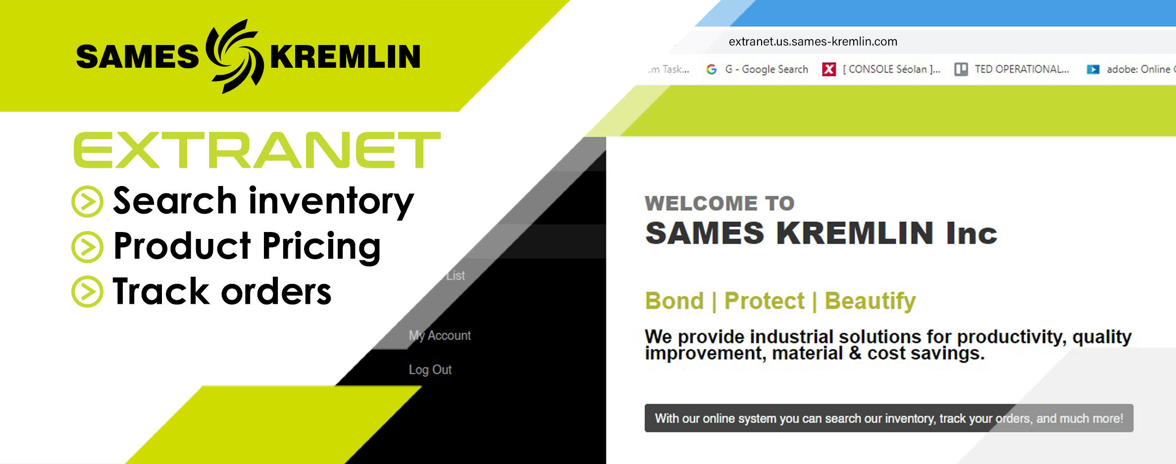SAMES KREMLIN North America Extranet Site
