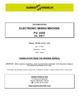PU3000 2L 30/1   User manual