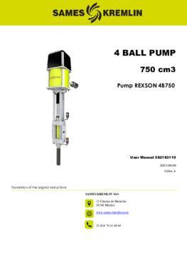 REX4B750 REXSON Dispense | User Manual