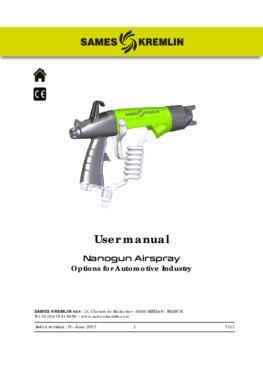 Nanogun Airspray - options automotive industry | User manual